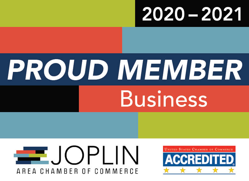 Joplin Area Chamber of Commerce Member Plaque